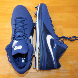 Nike Baseball Cleats Mens Size 16 US Blue Air Max